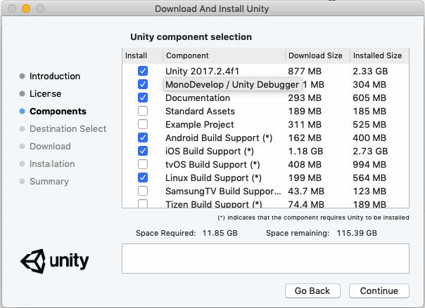 Unity Installation - wiki sine space