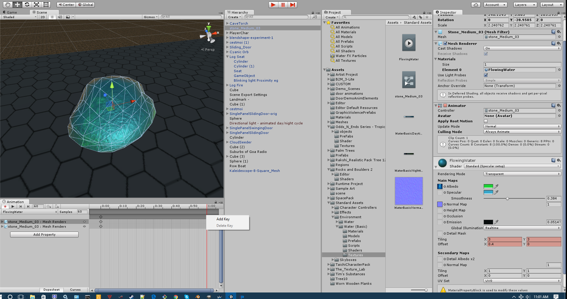 Setting up the material animation.png